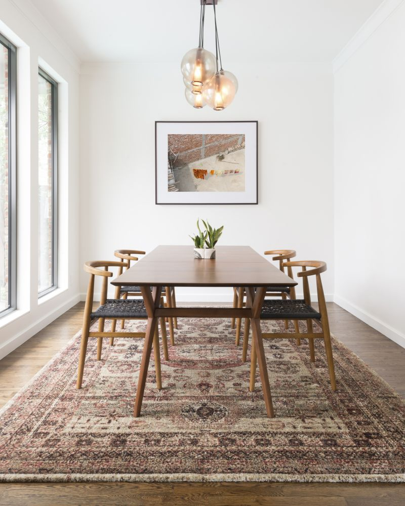 Use an Area Rug to Elevate Your Dining Room