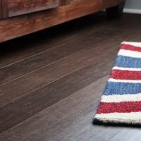 bamboo flooring with area rug | Broadway Carpets, Inc